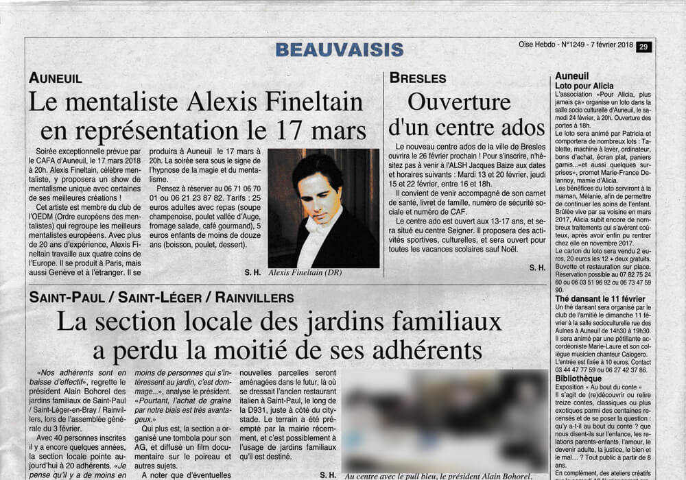 Alexis Fineltain article-Oise-Hebdo